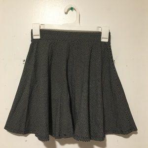So from Kohl's S Skater Skirt Black White Stripe